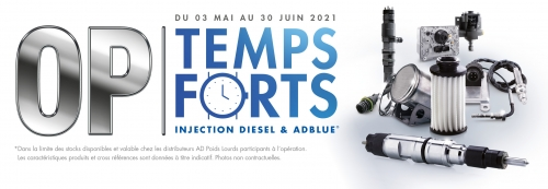 Promotion  OP Temps Forts Injection Diesel & AD Blue  du 02/05/2021 au 30/06/2021